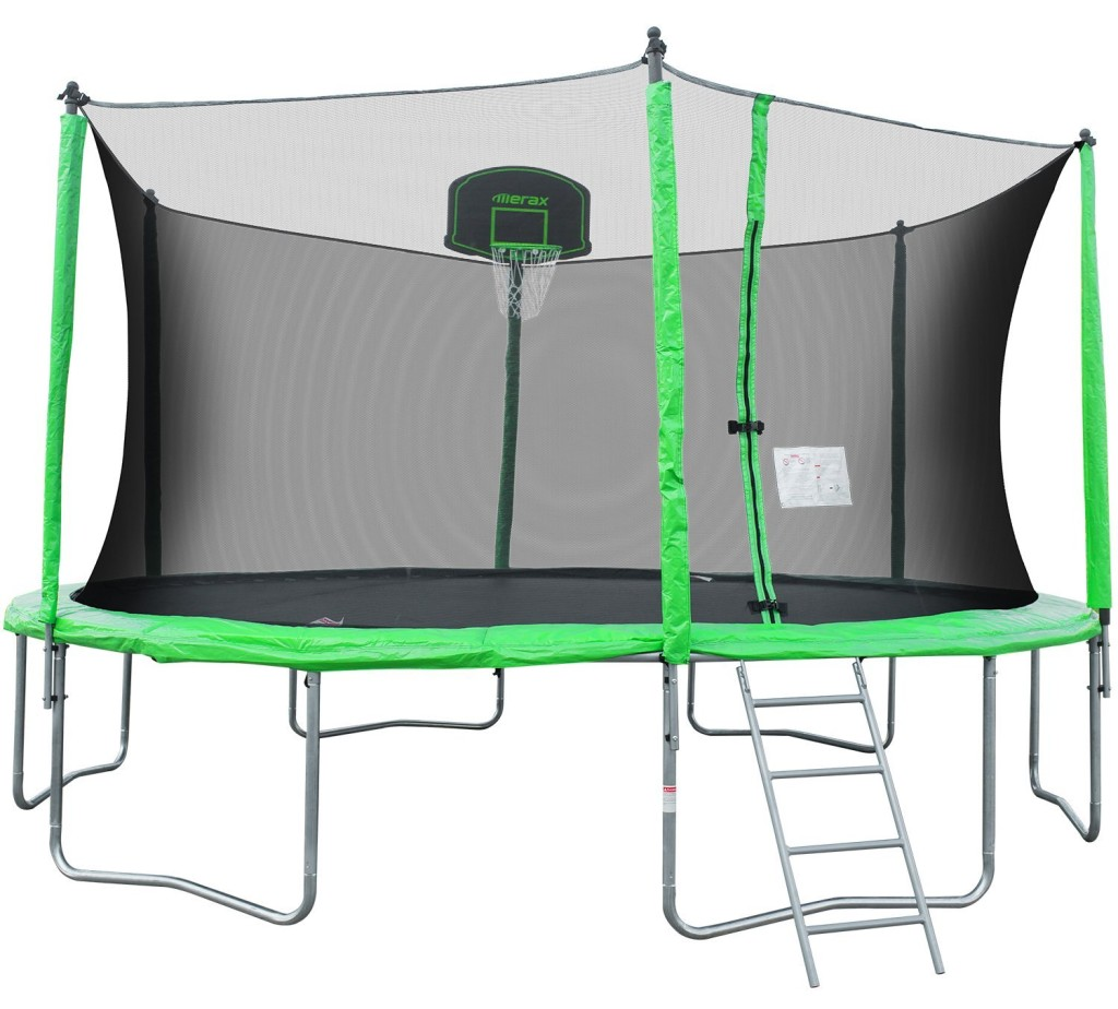 Merax 14-Feet Round Trampoline with Safety Enclosure