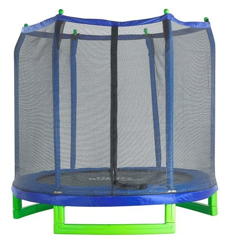 Upper Bounce Indoor or Outdoor Classic Trampoline and Enclosure Set (7-Feet)