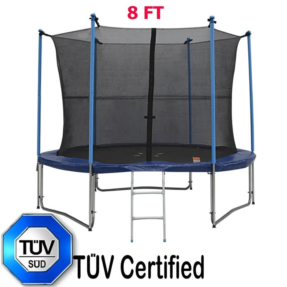 Zupapa TUV Approved Round Trampoline Combo with Safety Enclosure