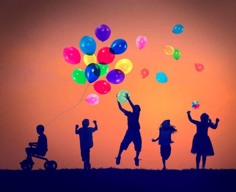 Balloon Children Child Childhood Cheerful Leisure Concept
