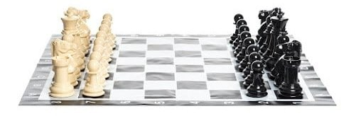 MegaChess Large Chess Set and Vinyl Chessboard