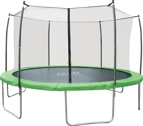Pure Fun Dura-Bounce 14-Foot Outdoor Trampoline with Enclosure