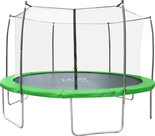 Pure Fun Dura-Bounce Outdoor Trampoline with Enclosure