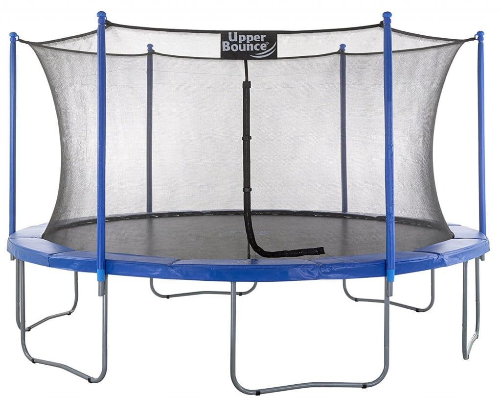 Upper Bounce Trampoline and Enclosure Set Equipped