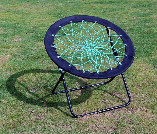 blue trampoline chair