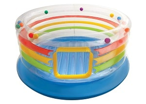 Intex Jump-O-Lene Transparent Ring Inflatable Bouncer is one of the inflatable trampoline for kids