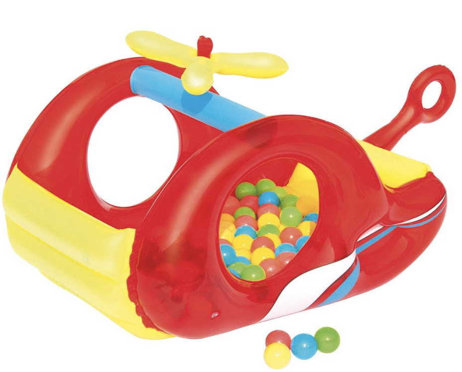toddler ball pit  -  UP IN & OVER Inflatable Helicopter Ball Pit