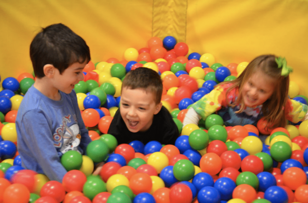toddler ball pit-kids in the ball pit