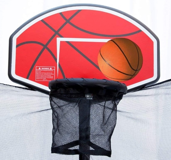 Exacme High trampoline basketball hoop