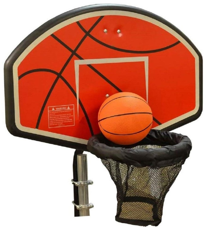 JumpKing trampoline basketball hoop