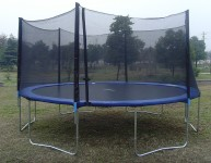 ExacMe 15 Foot Round Trampoline with Safety Enclosure