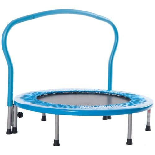 Merax 36 Kids Mini Exercise Trampoline with Handrail