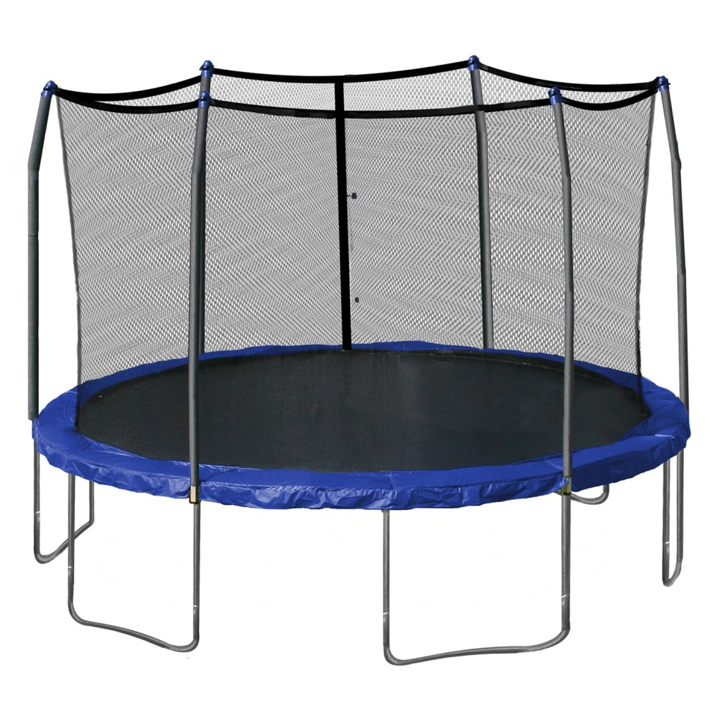 Skywalker Round 15 Foot Trampolines with Safety Enclosure