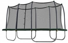 Skywalker Trampolines Rectangle Trampoline and Enclosure with Green Spring Pad
