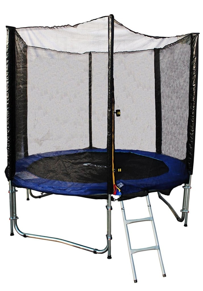 exacme 8ft trampoline with safety pad and enclosure net