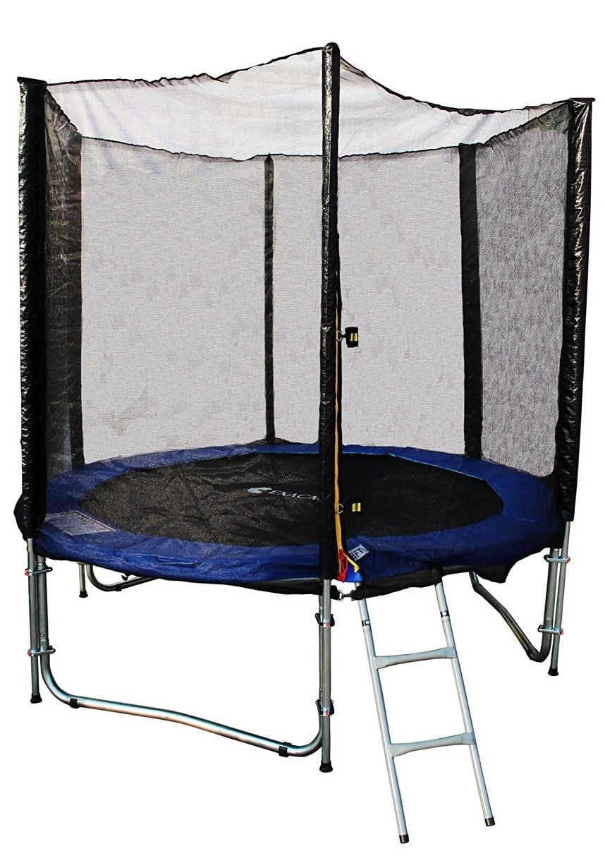 ExacMe 8ft Trampoline with Safety Pad and Enclosure Net All-in-one Combo Set