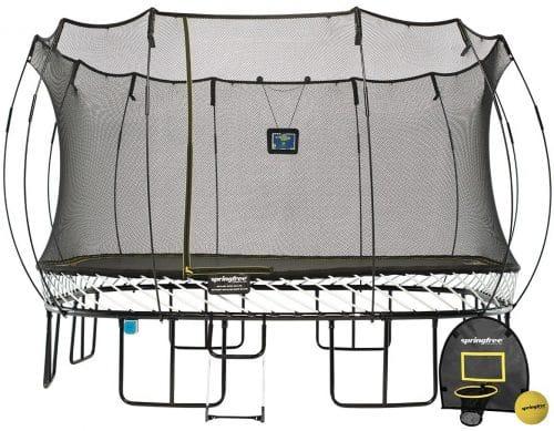 Springfree Trampoline - 13ft Jumbo Square Smart Trampoline