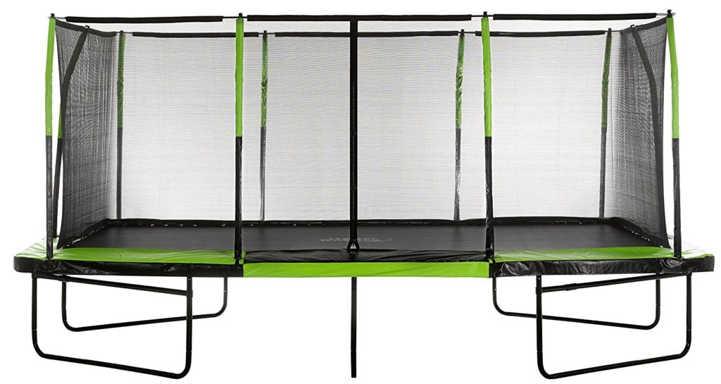Upper Bounce Easy Assemble Rectangular Trampoline with Fiber Flex Enclosure Feature