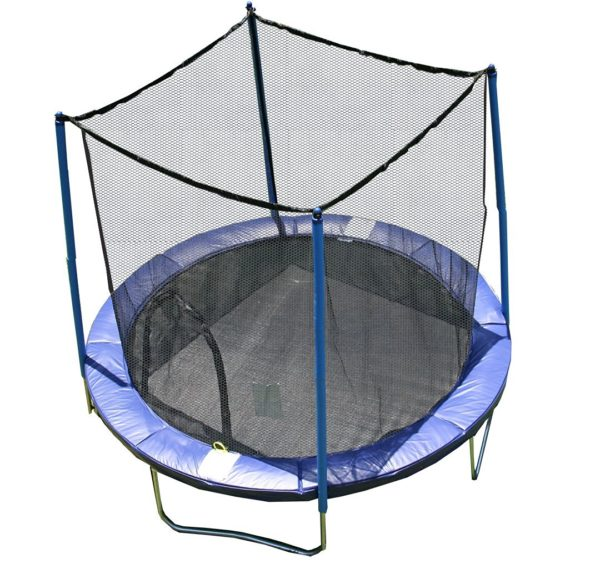 AirZone Outdoor Spring Trampoline with Mesh Padded Perimeter Safety Enclosurea