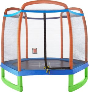 Pure Fun 7-Foot Trampoline with Enclosure Set
