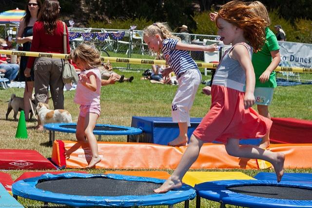 Kids on Trampolines