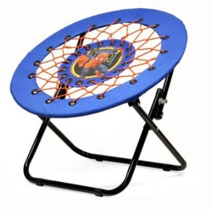 a canvas seat supported by a strong steel frame