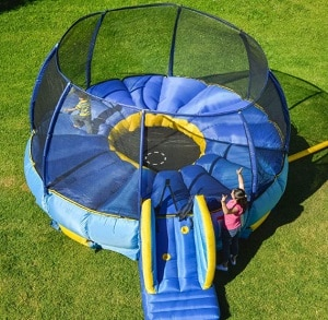 BouncePro Superdome Trampoline and Bouncer Inflated Air Bounce