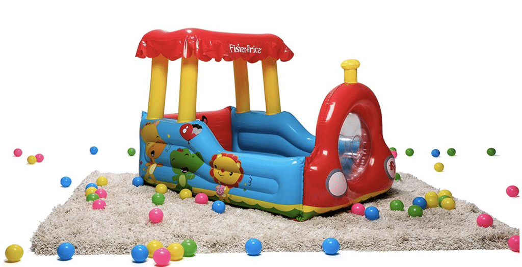 toddler ball pit - Fisher-Price Train Inflatable Ball Pit