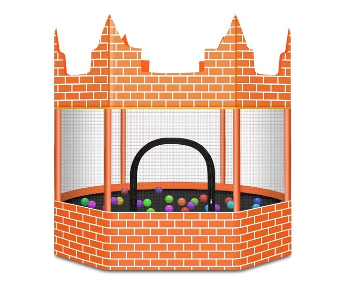 Castle Trampoline and Ball Pit on backyard games