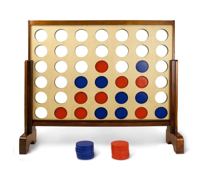 Giant connect four as backyard games