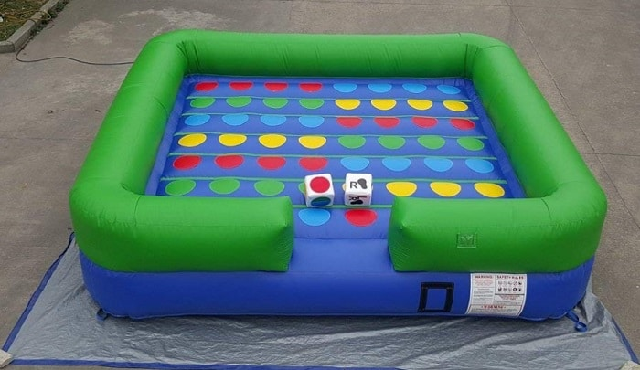 inflatable twister for backyard games
