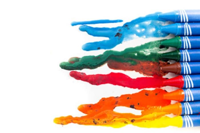melting crayons could be one of the backyard games