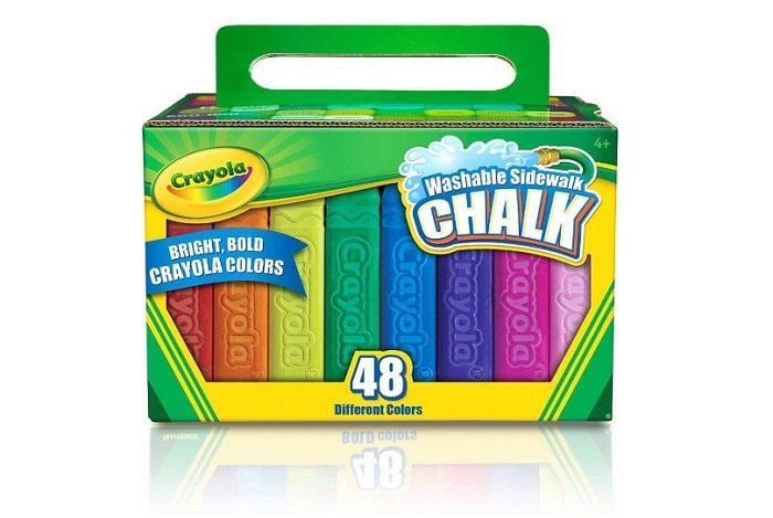 Crayola 48 Count Sidewalk Chalk as backyard games