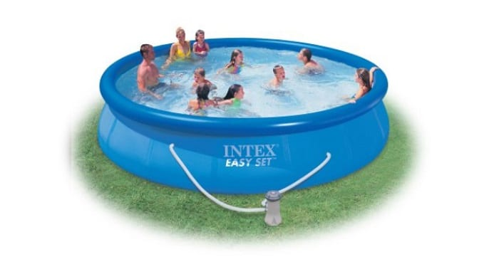 Intex Easy Set 15-Foot-by-36-Inch Round Pool Set as backyard games