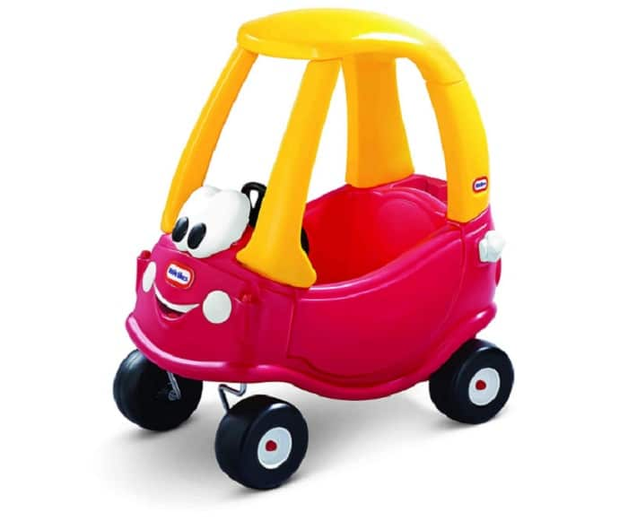 Little Tikes Cozy Coupe 30th Anniversary Car as backyard games