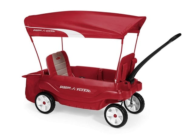 Radio Flyer Ultimate Comfort Wagon as backyard games