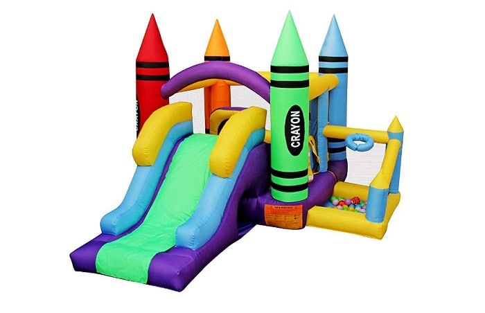 RetroJump Inflatable Bounce Bouncer Slide Play Jump House Kingdom Castle with Blower as backyard games