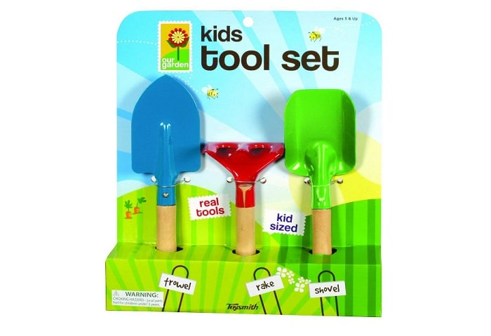 Toysmith Kid's 3-Piece Garden Tool Set as backyard games
