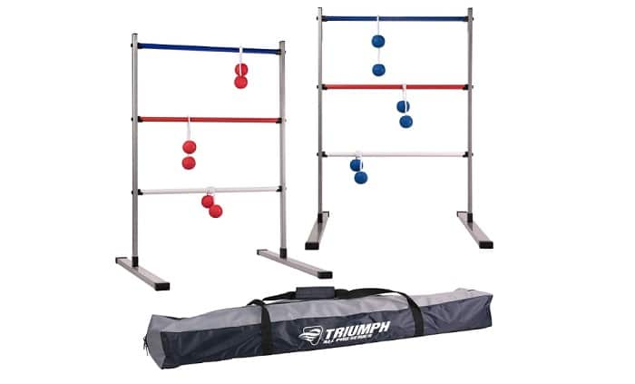 Triumph All Pro Series Press Fit Outdoor Ladderball Set as backyard games