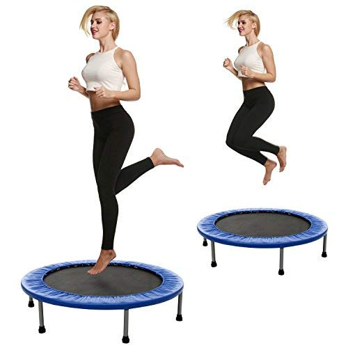 doing trampoline exercise