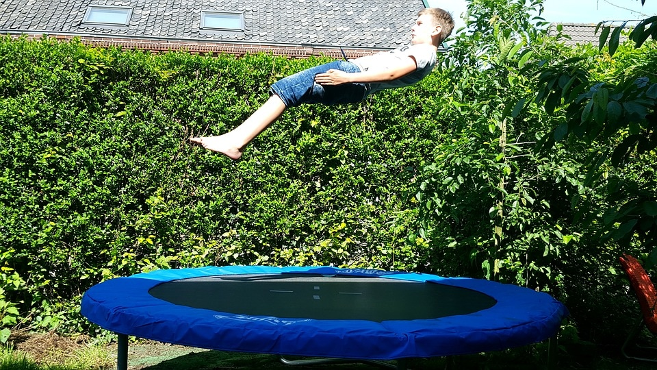 jump on the trampoline