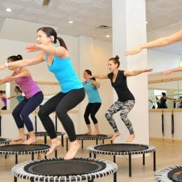 fitness enthusiasts doing rebound