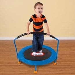 A Kid playing trampoline